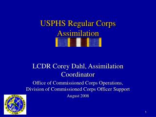 USPHS Regular Corps Assimilation
