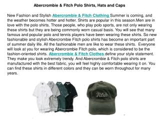 Abercrombie & Fitch Polo Shirts