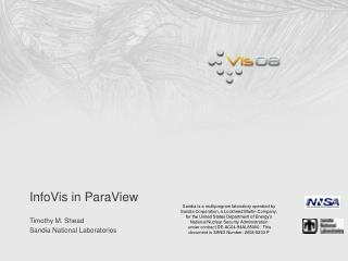 InfoVis in ParaView