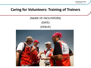 Caring for Volunteers: Training of Trainers