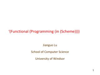 '(Functional  (Programming (in (Scheme))))