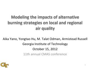 Modeling the impacts of alternative burning strategies on local and regional air quality