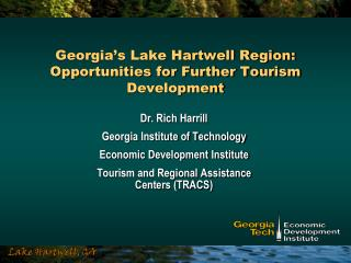 Georgia's Lake Hartwell Region: Opportunities for Further Tourism Development