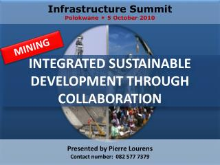 INTEGRATED SUSTAINABLE DEVELOPMENT THROUGH COLLABORATION