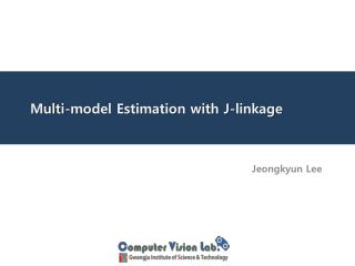 Multi-model  Estimation with J-linkage
