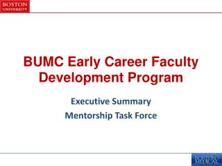 BUMC Early Career Faculty Development Program