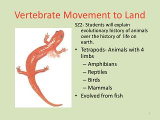 Vertebrate Movement to Land