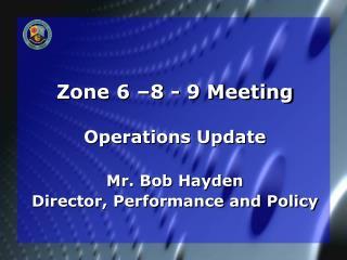 Zone 6 –8 - 9 Meeting