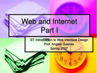 Web and Internet Part I