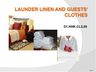 LAUNDER LINEN AND GUESTS' CLOTHES