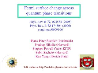 Fermi surface change across quantum phase transitions