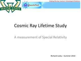 Cosmic Ray Lifetime Study