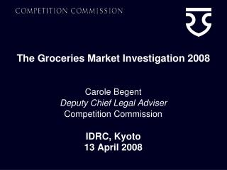 The Groceries Market Investigation 2008