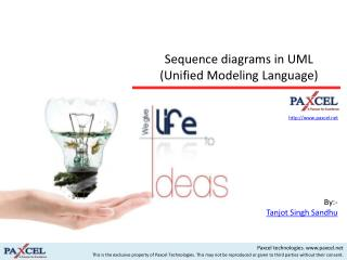 Sequence diagrams  in UML (Unified Modeling Language )