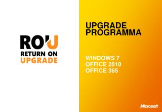 UPGRADE PROGRAMMA WINDOWS  7 OFFICE  2010 OFFICE  365