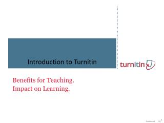 Introduction to Turnitin
