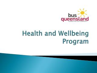 Health and Wellbeing Program