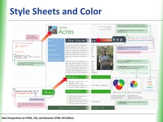 Style Sheets and Color