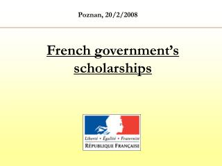 French government's scholarships