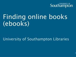 Finding online books ( ebooks )