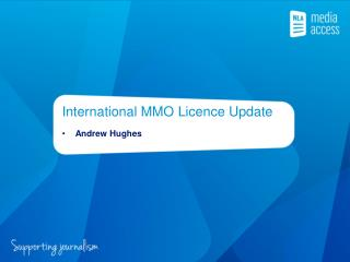International MMO  Licence  Update
