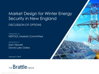 Market Design for Winter Energy Security in New England