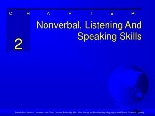 Nonverbal, Listening And Speaking Skills