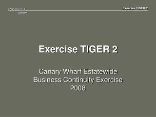 Exercise TIGER 2
