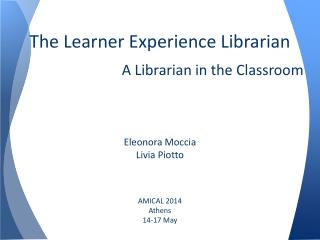 The Learner Experience Librarian