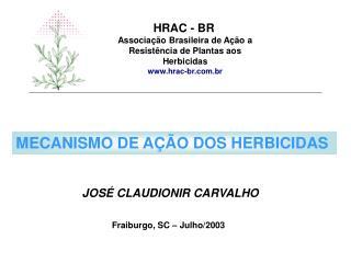 Associação Brasileira de Ação a Resistência de Plantas aos Herbicidas hrac-br.br