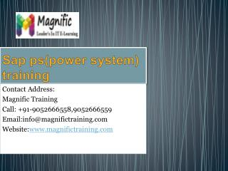 sap ps(power system) training