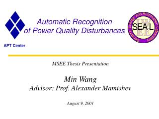 Automatic Recognition  of Power Quality Disturbances