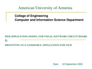 WEB APPLICATION MODEL FOR VISUAL  SOFTWARE  CIRCUIT BOARD & PROTOTYPE OF E-COMMERCE APPLICATION FOR VSCB