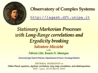Stationary Markovian Processes  with Long-Range correlations and  Ergodicity breaking