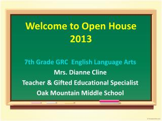 Welcome to Open House 2013
