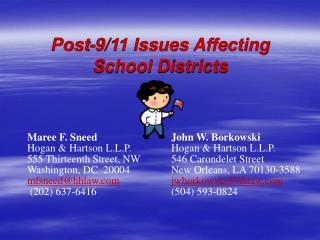 Post-9/11 Issues Affecting School Districts