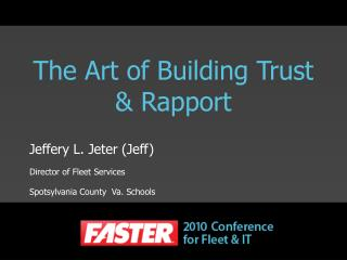 The Art of Building Trust & Rapport