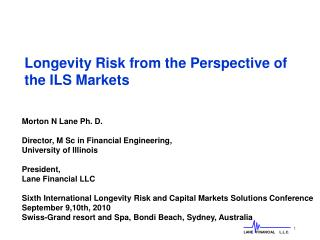 Longevity Risk from the Perspective of the ILS Markets
