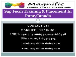 Sap Fscm Training & Placement In Pune,Canada