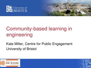 Community-based learning in engineering