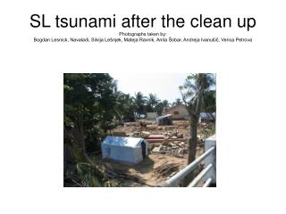 SL tsunami damaged homes and lives