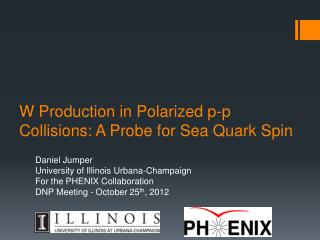 W Production in Polarized p-p Collisions: A Probe for Sea Quark Spin