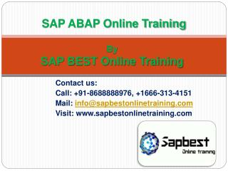 SAP ABAP Online Training in Hyderabad | SAP ABAP Training in