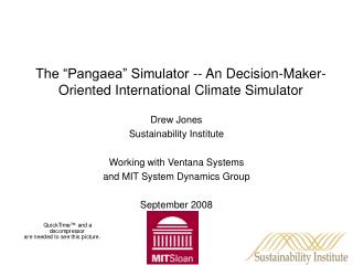 "The ""Pangaea"" Simulator -- An Decision-Maker-Oriented International Climate Simulator"