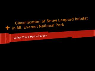 Classification of Snow Leopard habitat in Mt. Everest National Park