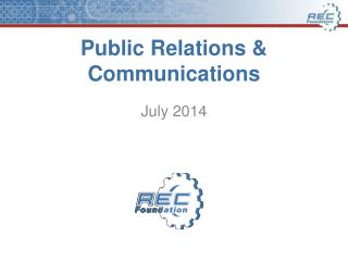 Public Relations & Communications