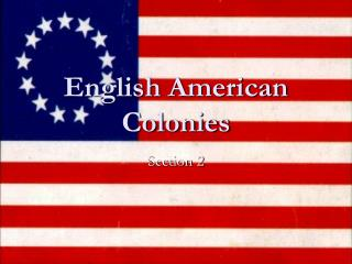 English American Colonies
