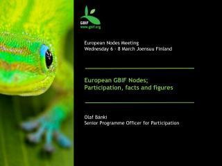 European Nodes Meeting Wednesday 6 - 8 March  Joensuu  Finland