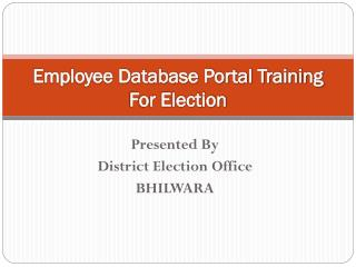 Employee Database Portal Training For Election