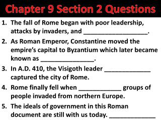Chapter 9 Section 2 Questions